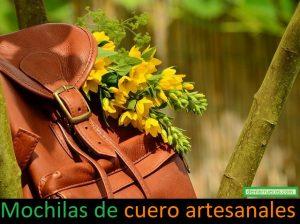 mochilas de cuero artesanales